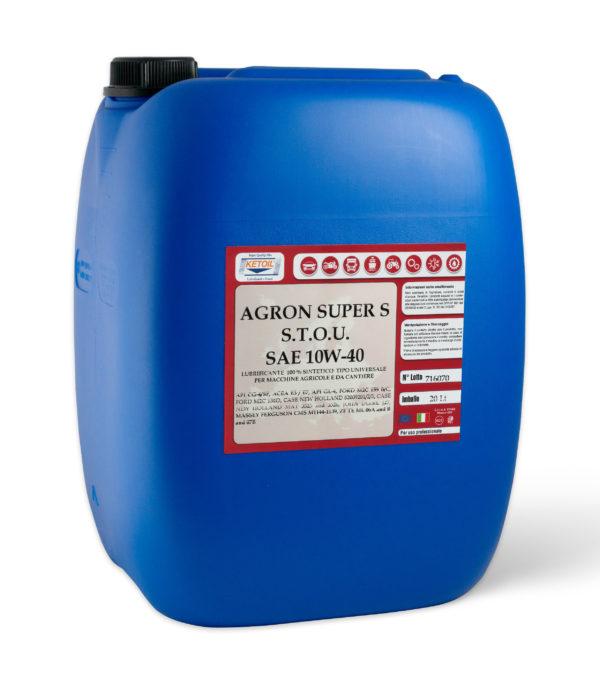 AGRON SUPER STOU SAE 10W-40 - Lubrificante sintetico per macchine agricole da cantiere